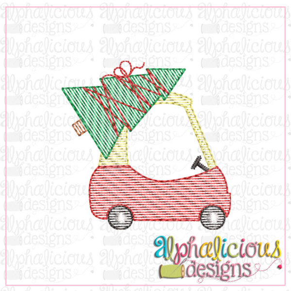 Cozy Coupe with Christmas Tree-MINI-Sketch