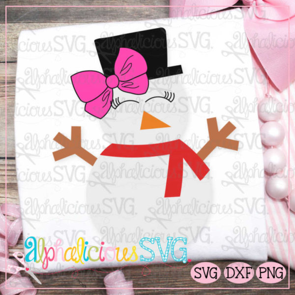 Snow Girl with Bow- SVG