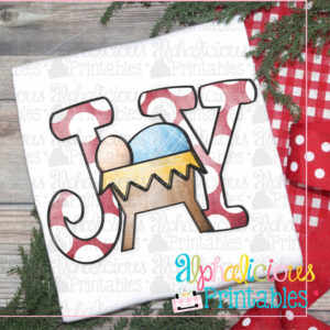 JOY Nativity with dots-Printable