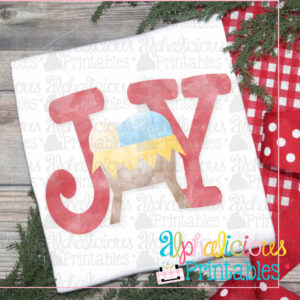 JOY Nativity Watercolor-Printable