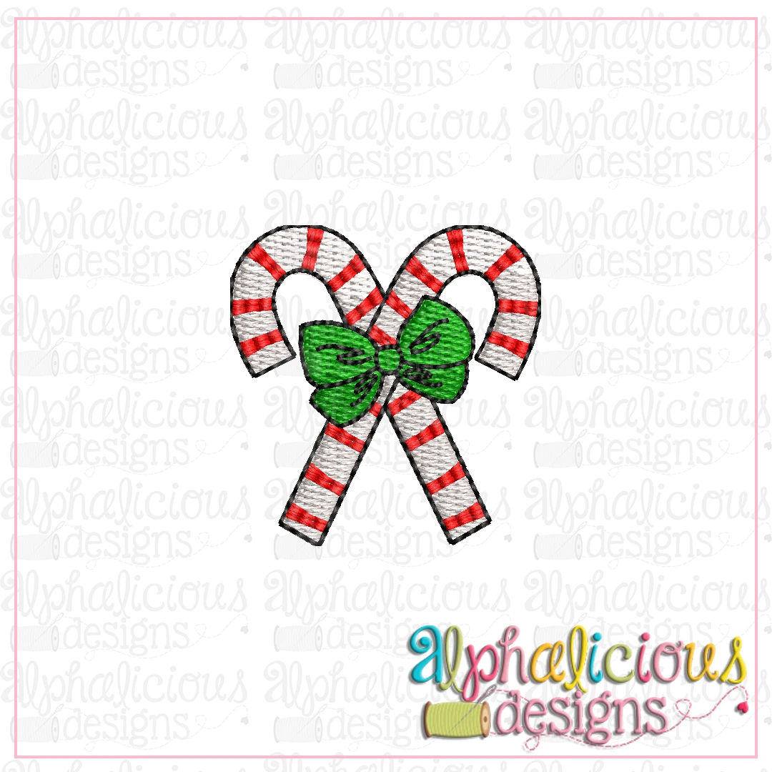 Candy Cane with Bow MINI-Fill