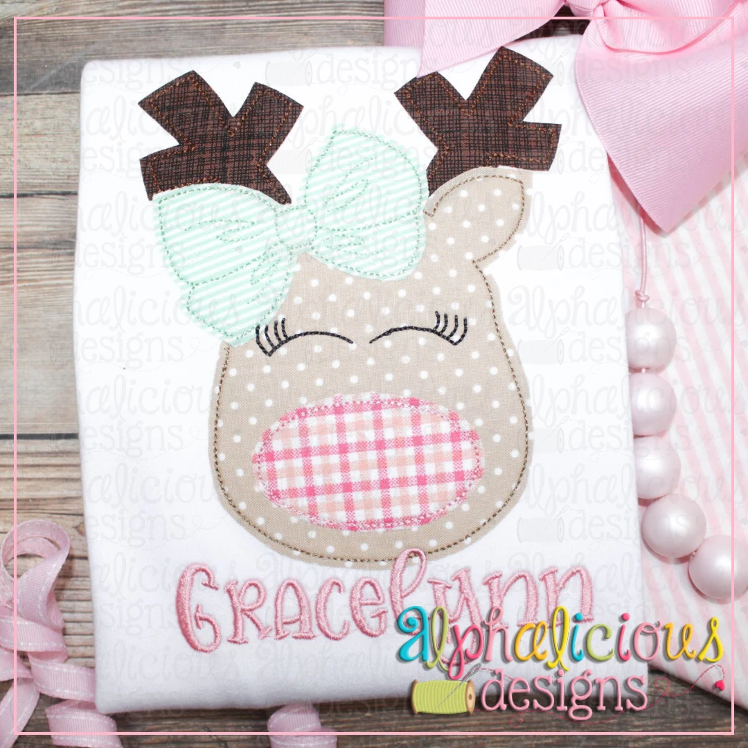 Red Nose Reindeer with Bow-Triple Bean
