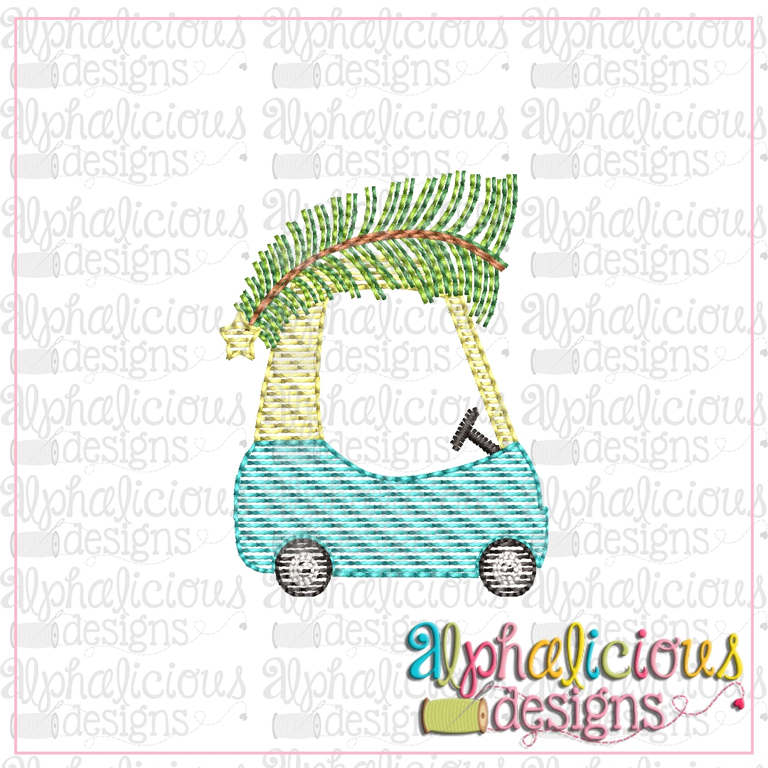 Cozy Coupe with Tree-MINI-Sketch