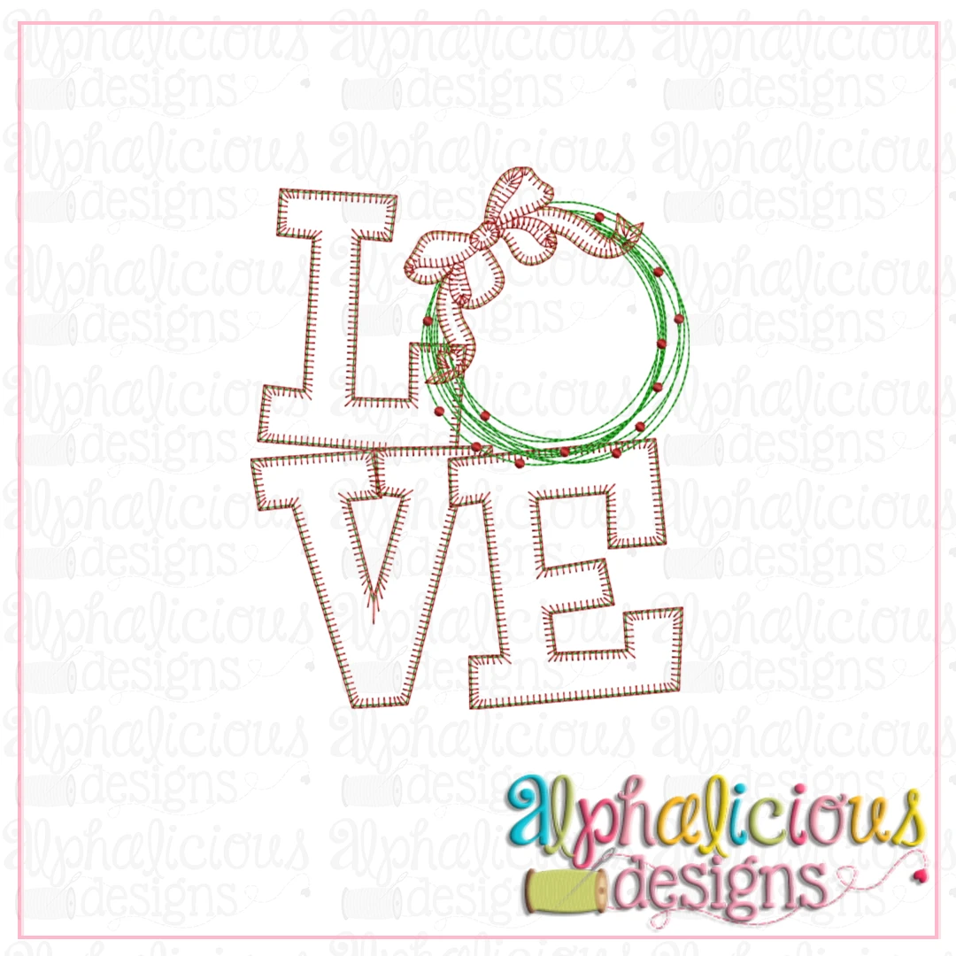 LOVE with Wreath-Blanket