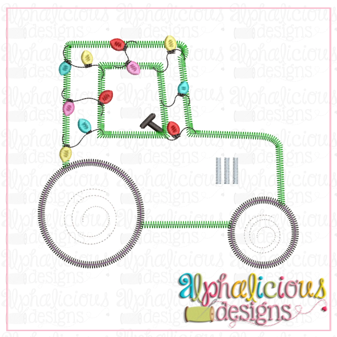 Tractor with Lights-Zigzag