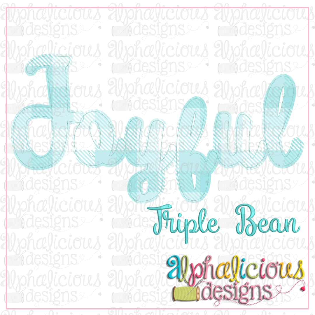 Joyful Applique Font- Triple Bean