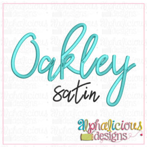 Oakley Embroidery Font
