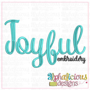 Joyful Embroidery Font