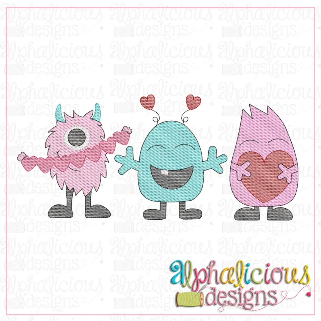 Monsters with Hearts-Sketch