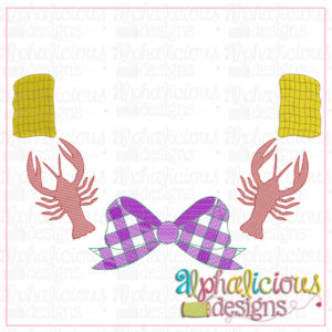 Crawfish and Corn Monogram Frame
