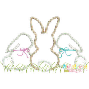Sweet and Simple Bunny Trio- ZigZag