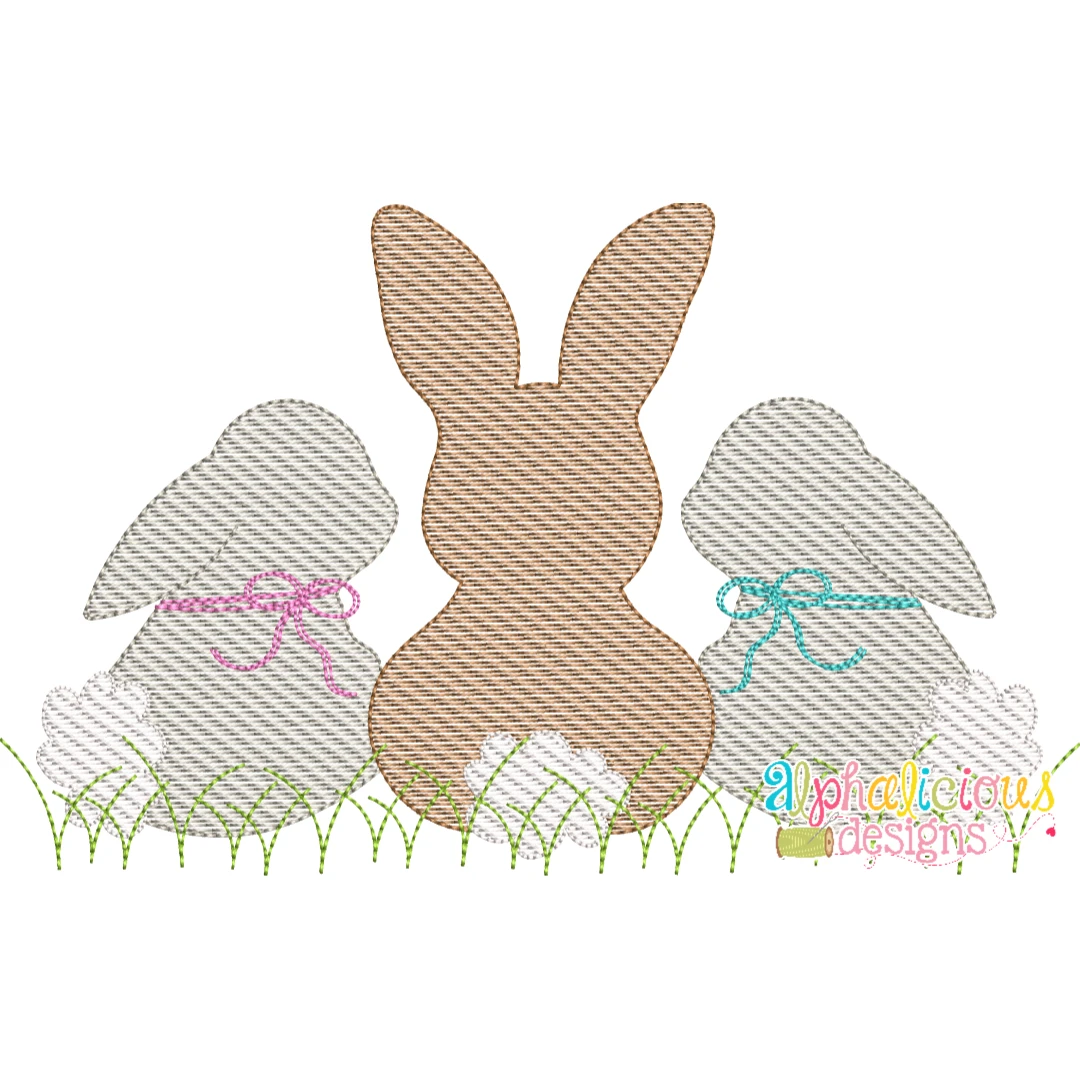 Sweet and Simple Bunny Trio- Sketch