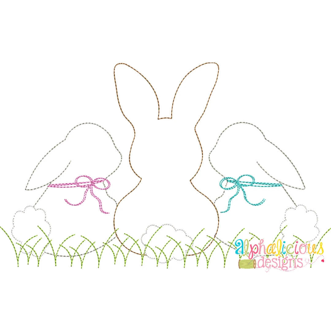 Sweet and Simple Bunny Trio- Triple Bean