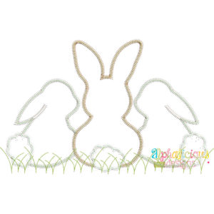 Sweet and Simple Bunny Trio- No Bow- ZigZag