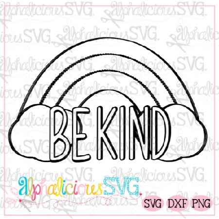 Be Kind-Black line SVG/Printable