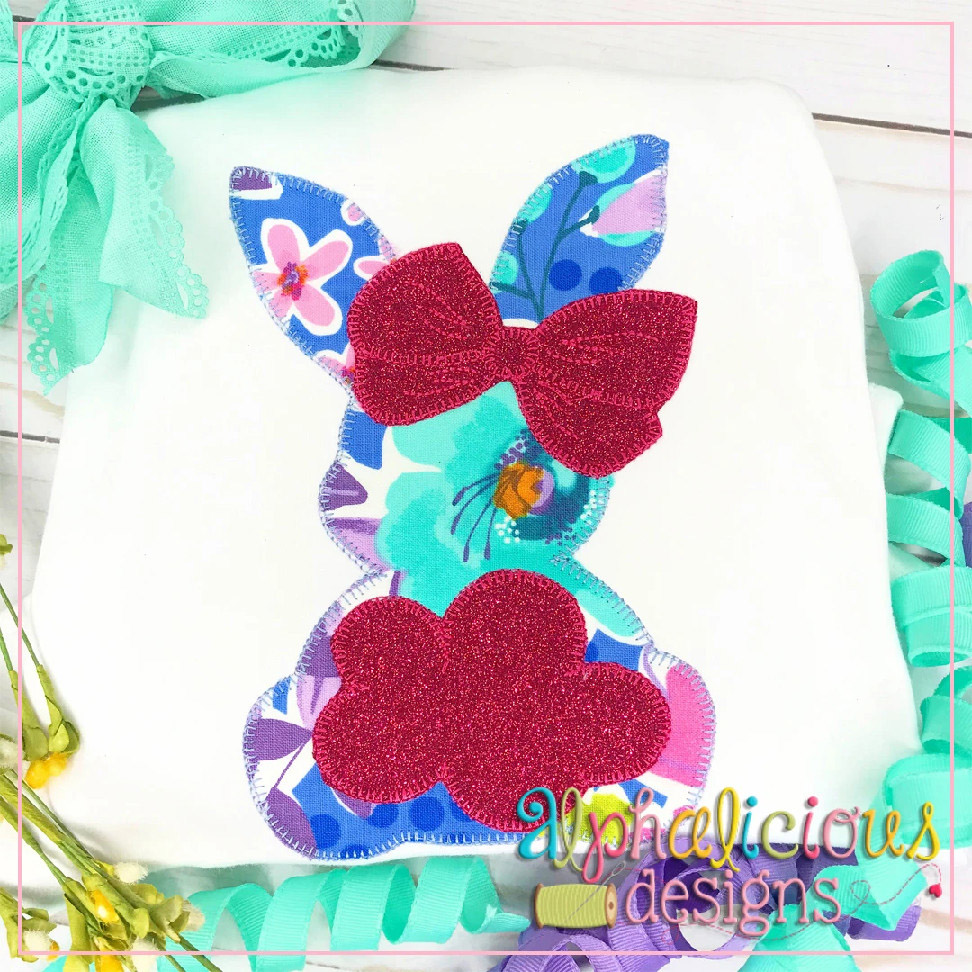 Big Tail Bunny with Bow-Blanket
