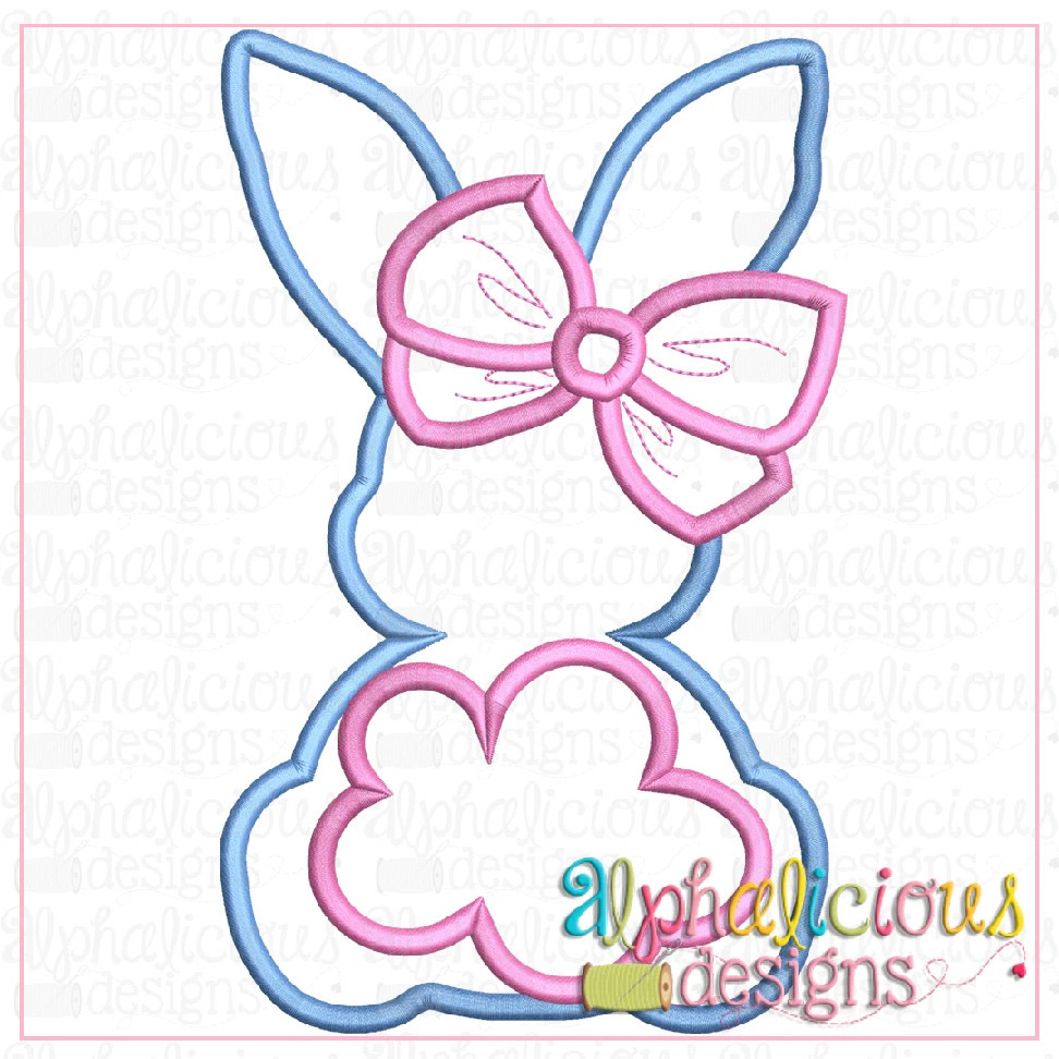 Big Tail Bunny with Bow-Satin
