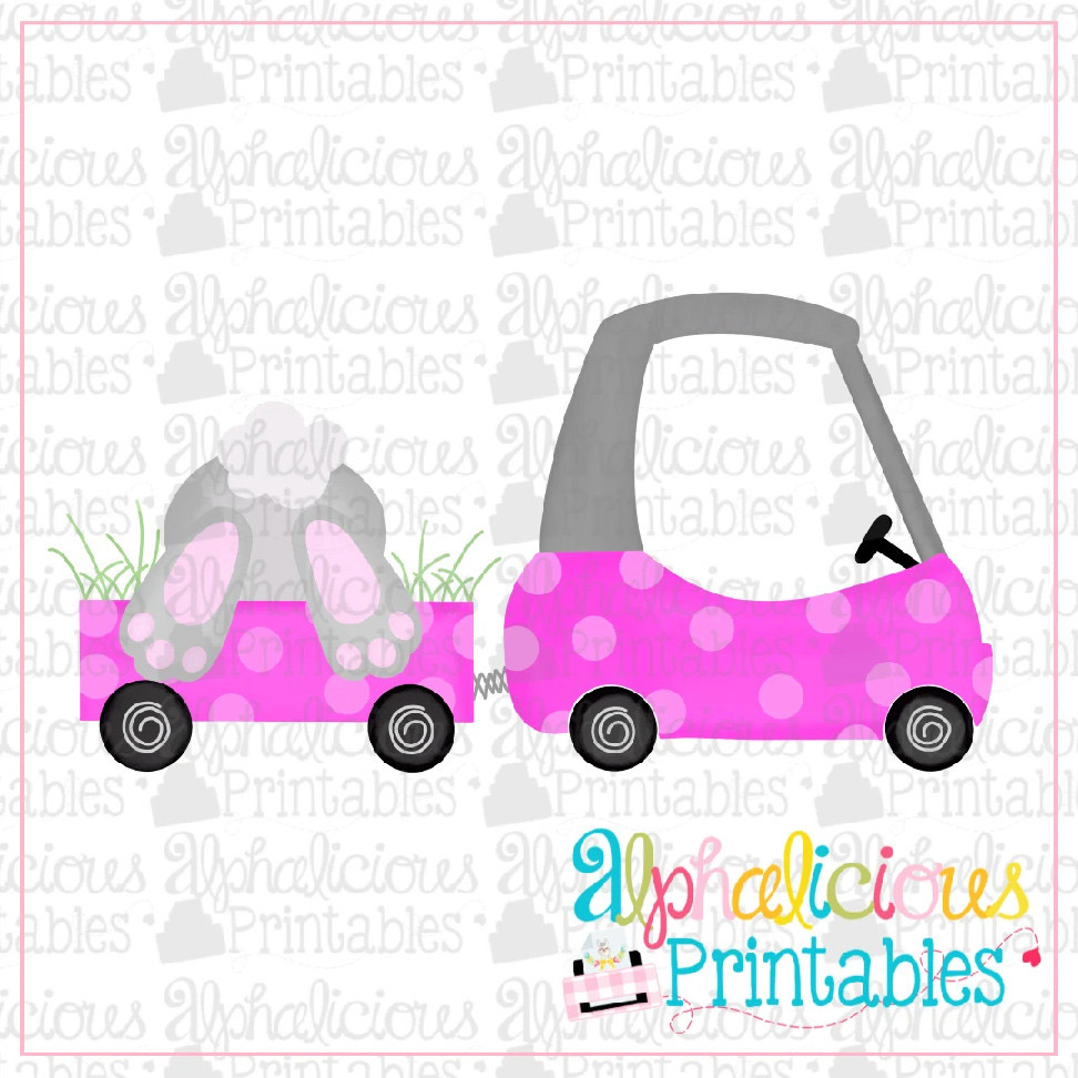 Coupe with Bunny Bum-Pink-Printable