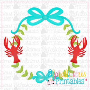 Preppy Girl Frame-Crawfish-Printable