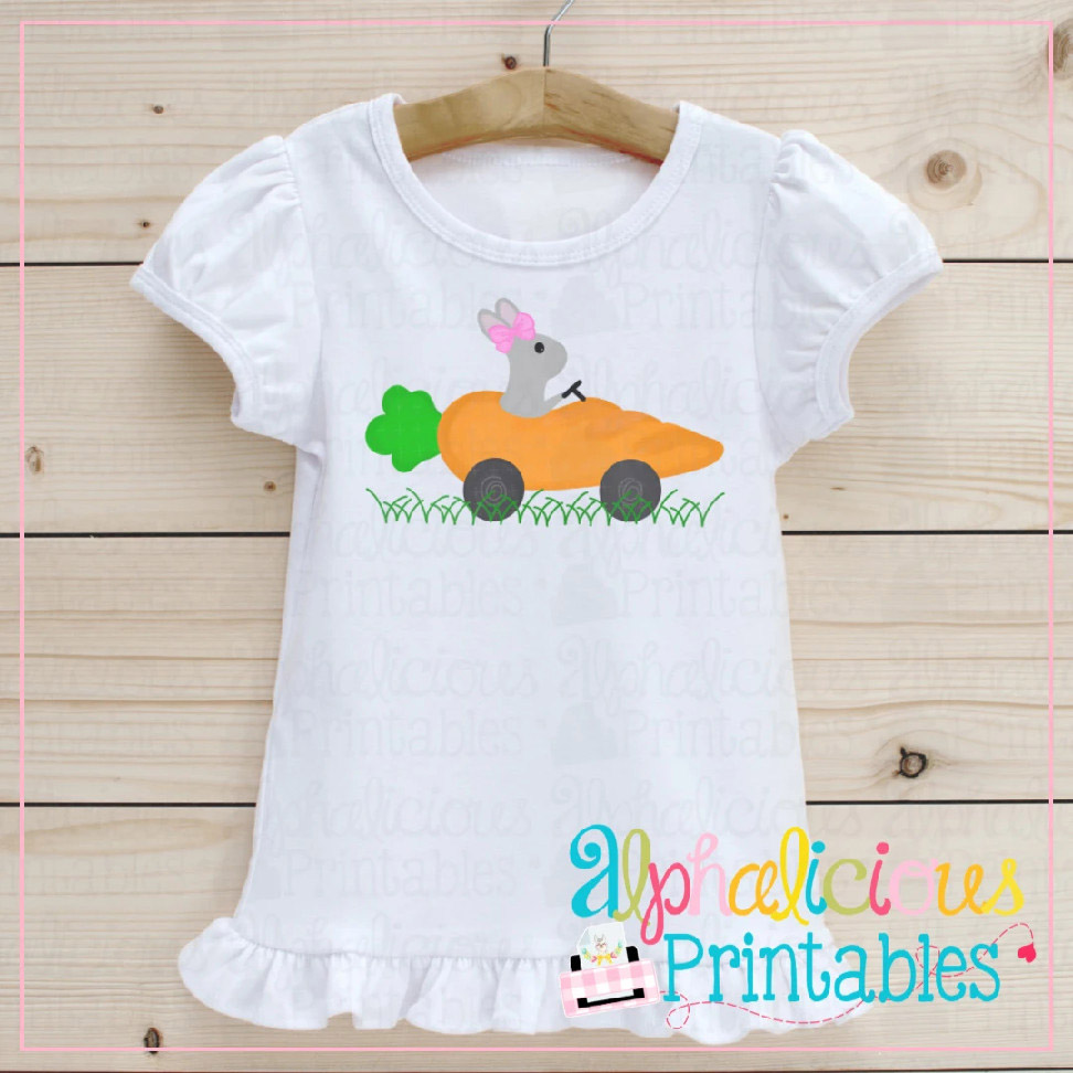 Bunny in Carrot Car-Bow-Printable