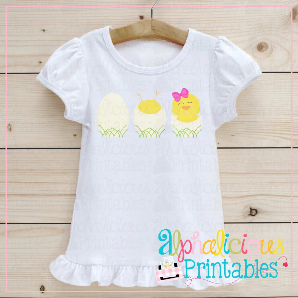 Chicks in Eggs-Bows-Printable