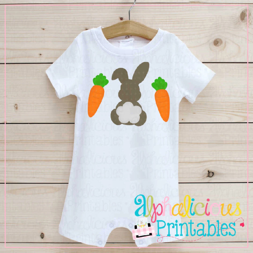 Bunny with Carrots-Printable