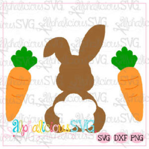 Bunny with Carrots- SVG
