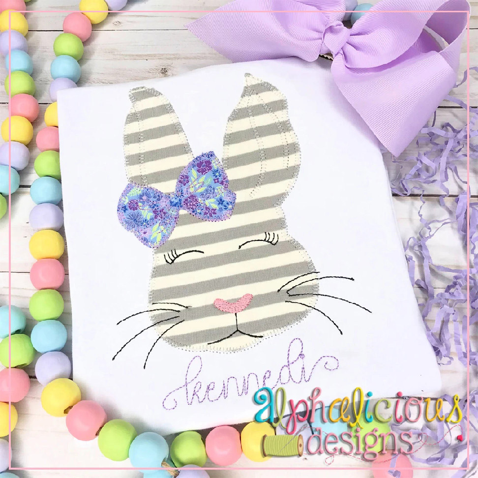 Classic Bunny with Bow-Blanket