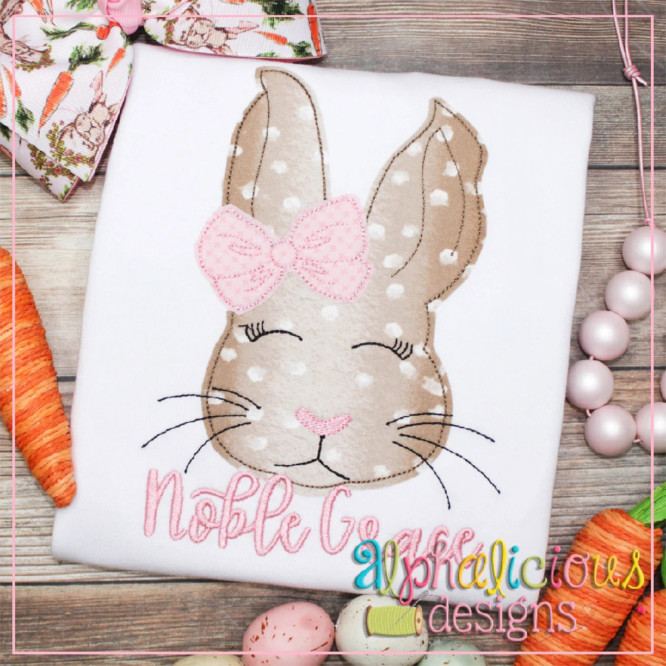 Classic Bunny with Bow-Triple Bean