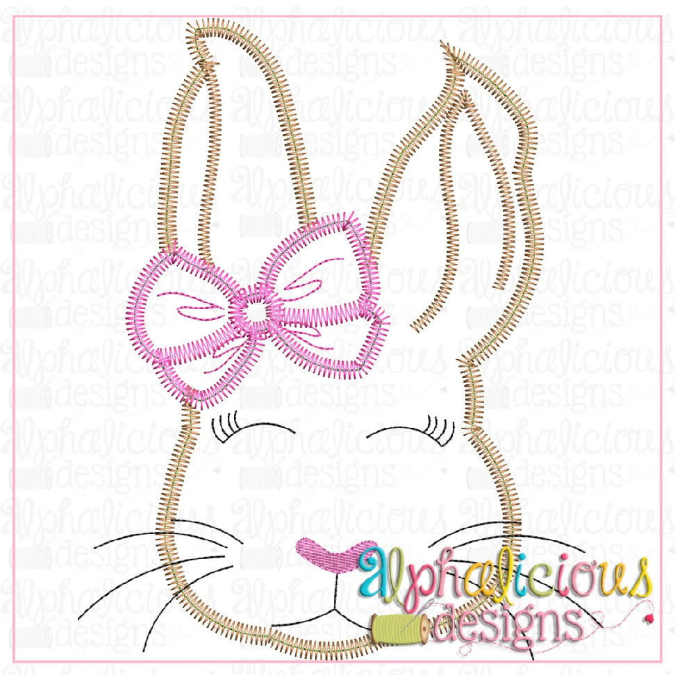 Classic Bunny With Bow-Zigzag