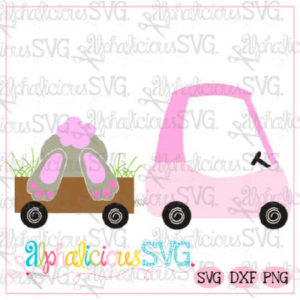 Coupe with Bunny Bum- SVG
