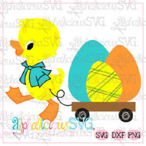 Duck with Wagon-Easter- SVG