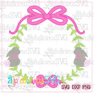 Preppy Girl Frame-Bunny- SVG