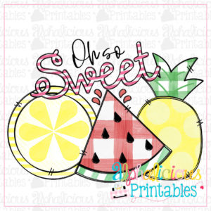 Oh So Sweet Fruit Trio-Printable