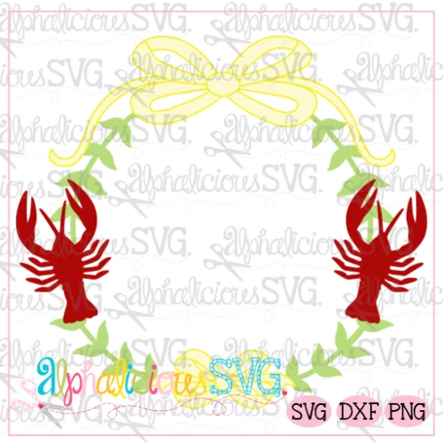 Preppy Girl Frame-Crawfish- SVG