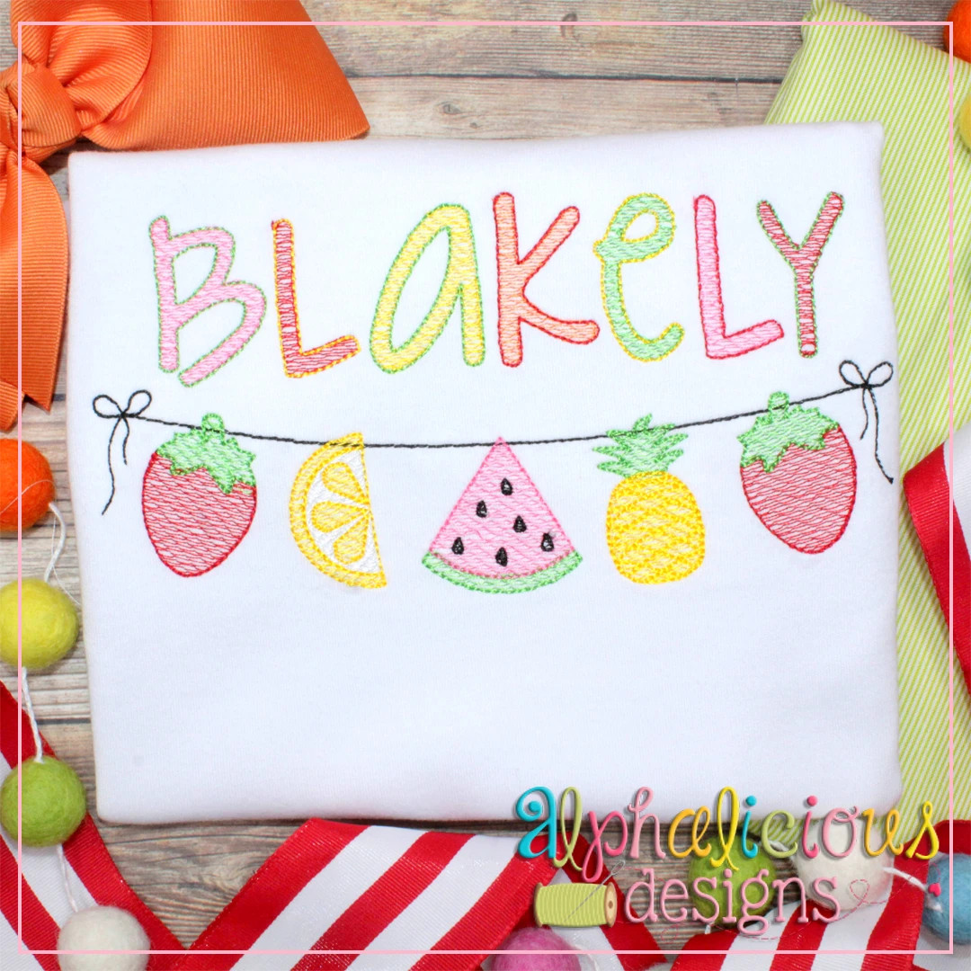 Fruity Tooty Bunting-Sketch