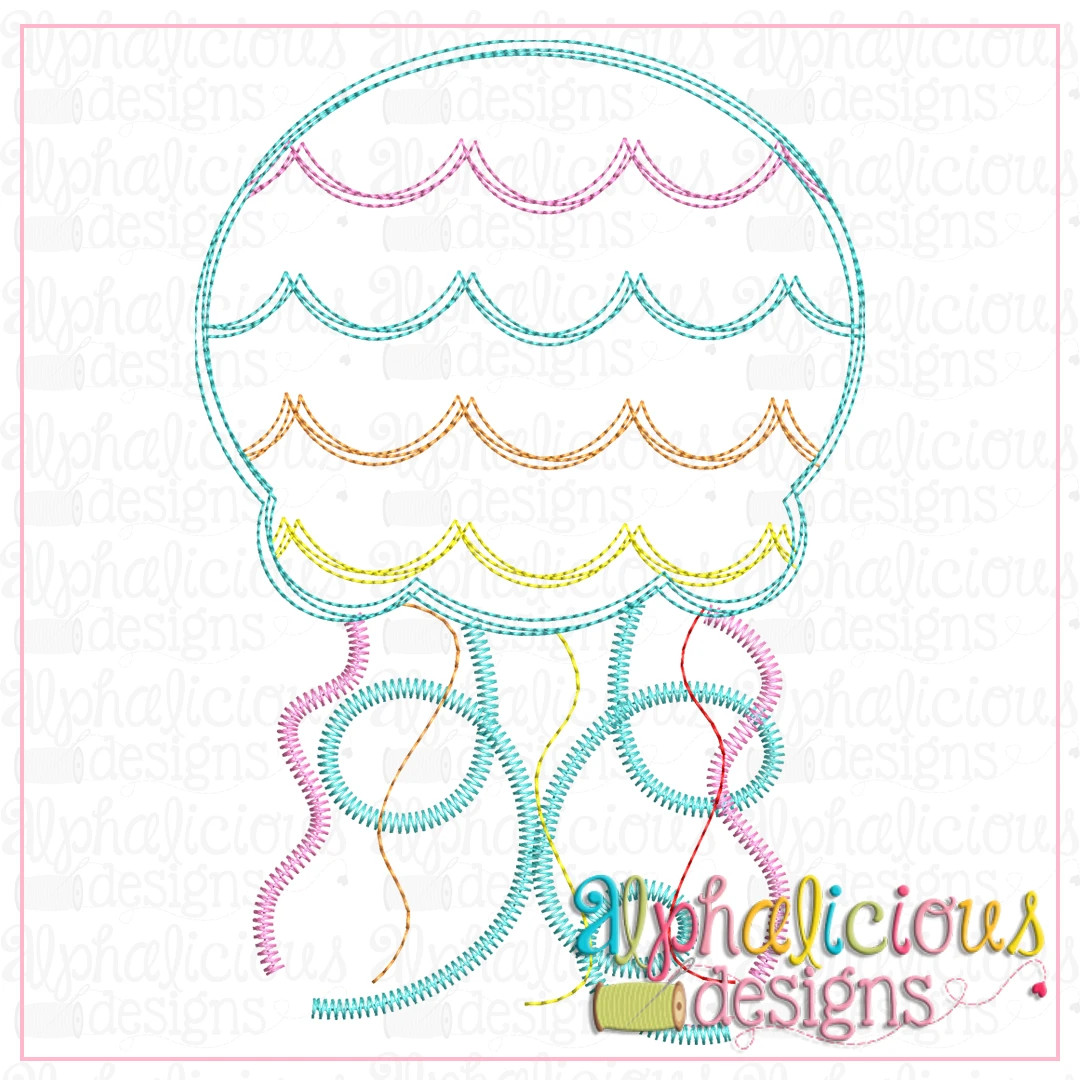 Jellyfish with Scallops-Scribble