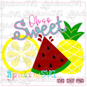 Oh So Sweet Fruit Trio- SVG