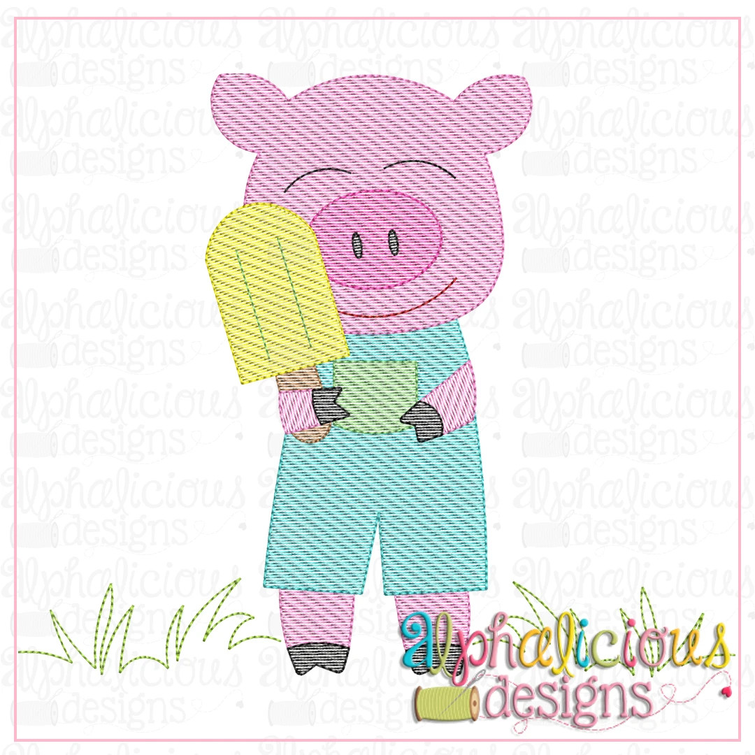 Piggie with Popsicle-Sketch
