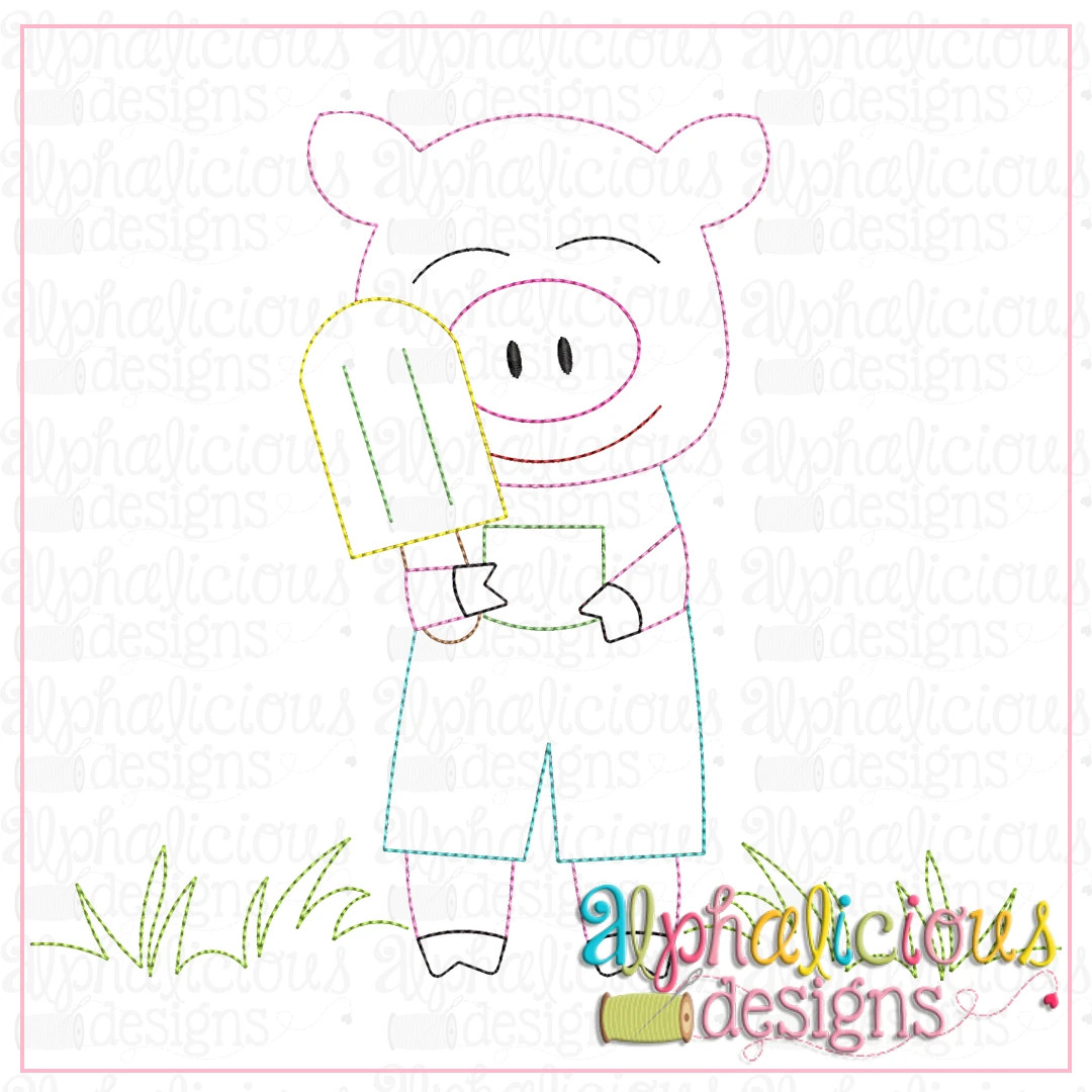 Piggie with Popsicle-Triple Bean