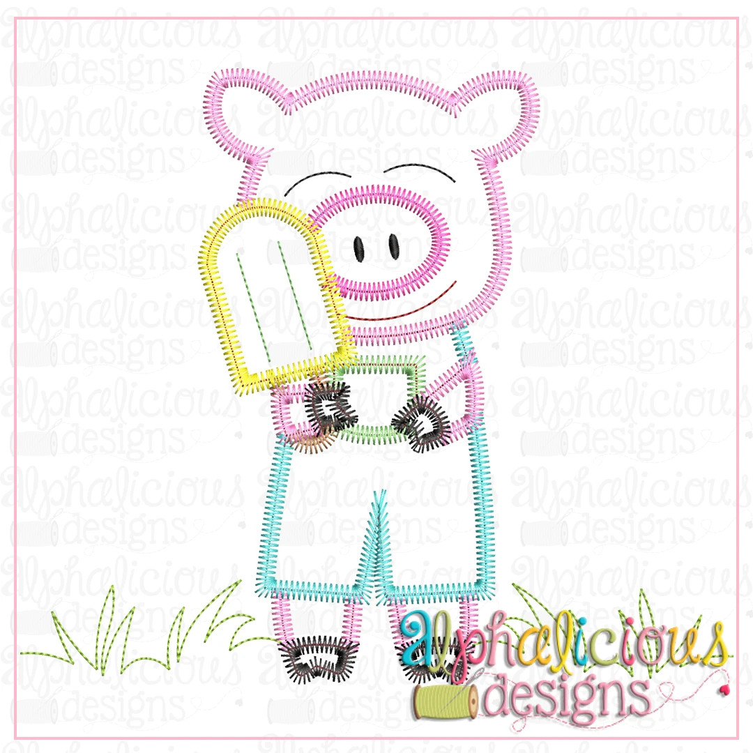 Piggie with Popsicle-ZigZag