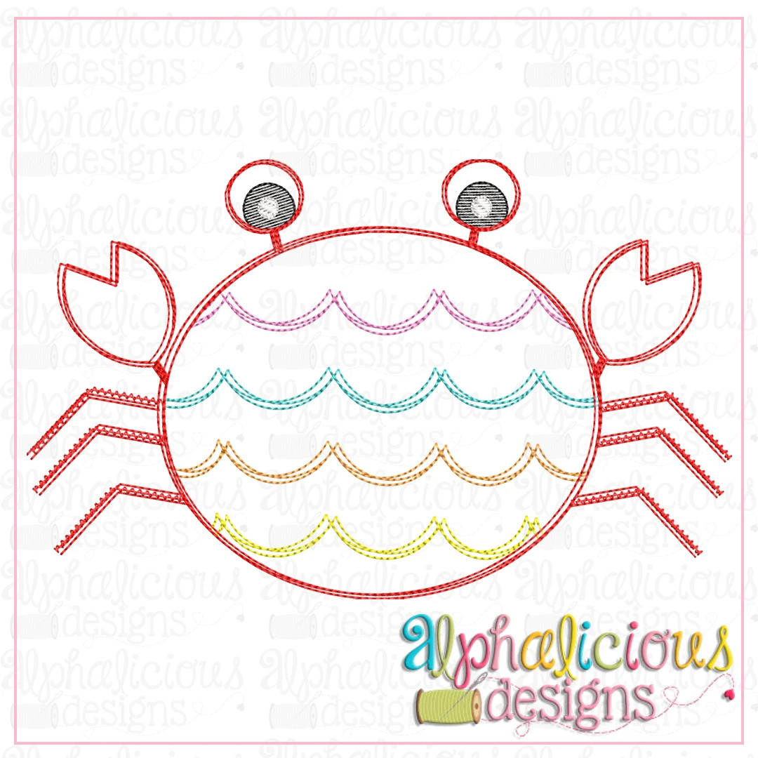 Scalloped Crab-Scribble