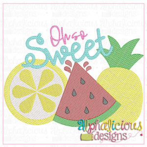 Oh So Sweet Fruit Trio-Sketch