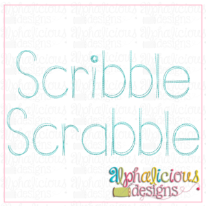Scribble Scrabble Embroidery Font