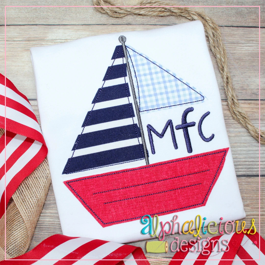 Sailboat Monogram-Triple Bean