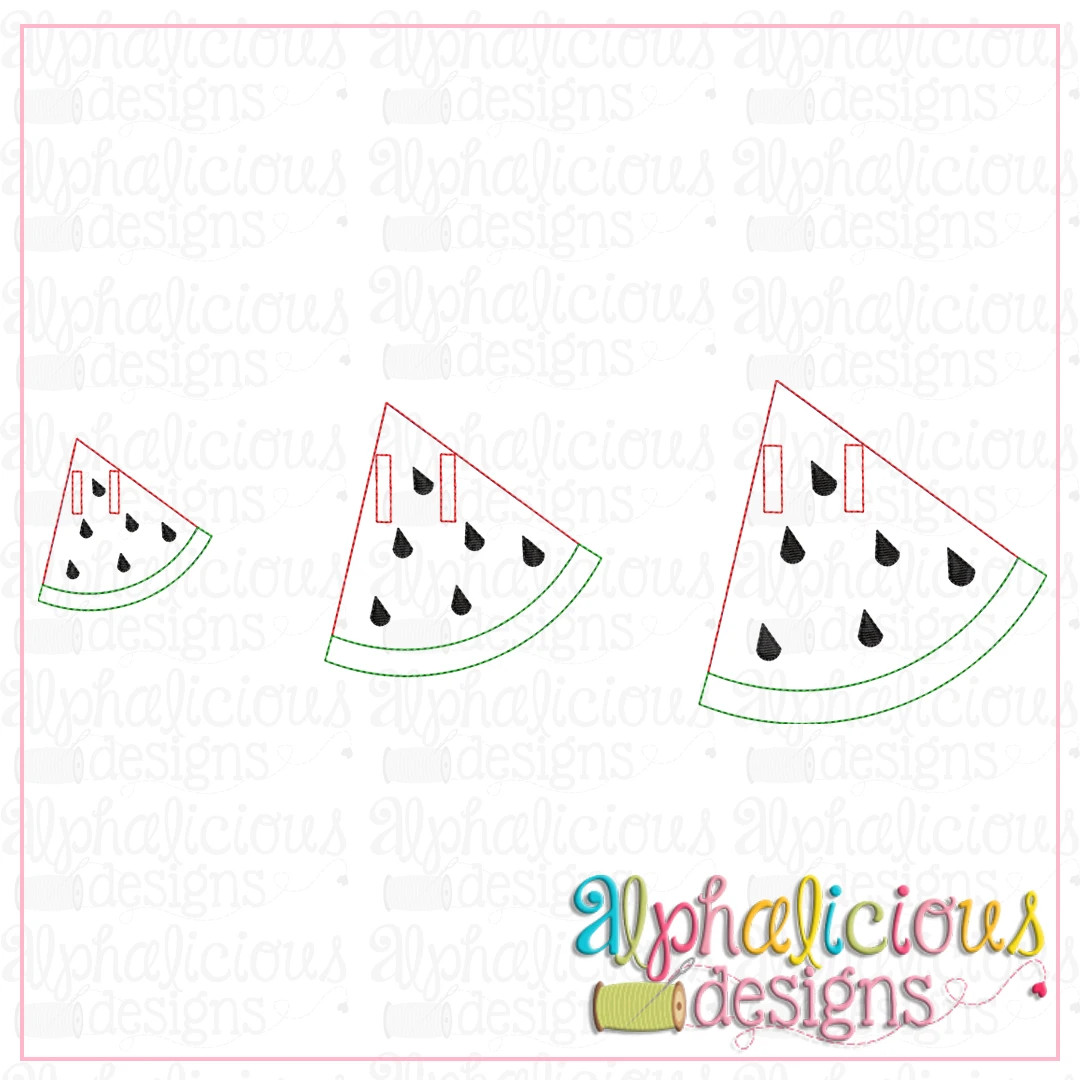 Watermelon Bunting-In-the-Hoop