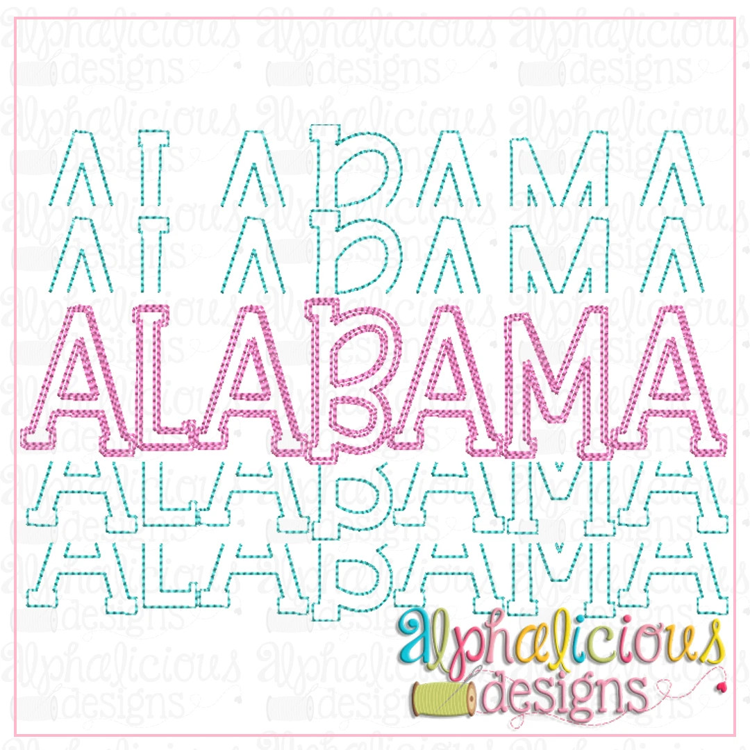 Alabama Stacked-Scribble