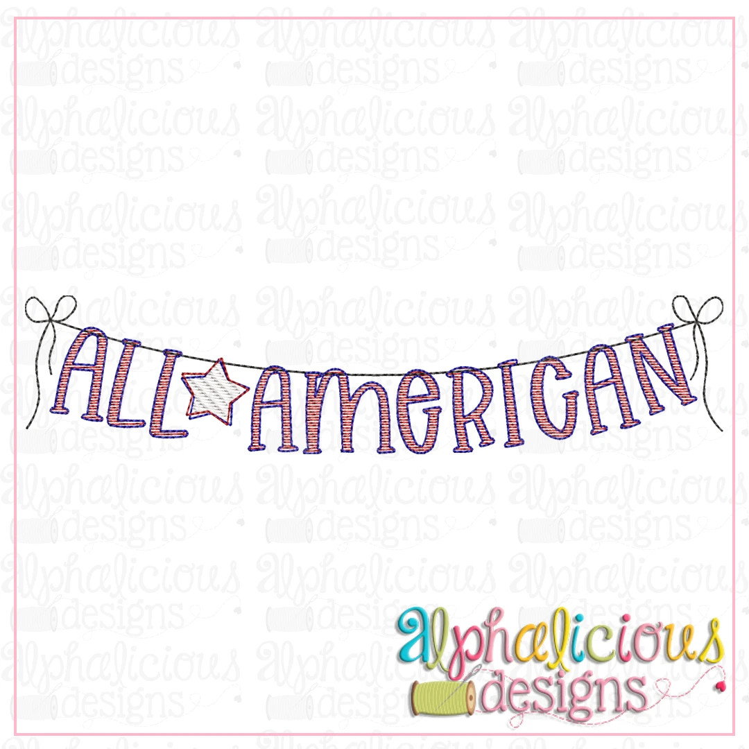 All American Bunting-Sketch