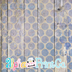 Backdrop- Distressed Wood-Polka Dot-Blue