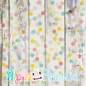 Backdrop- Distressed Wood-Polka Dot-Confetti